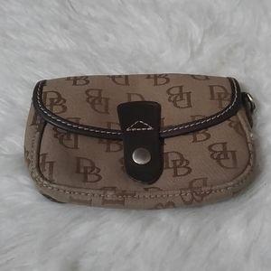Vintage Dooney Bourke monogram wristlet coin purse